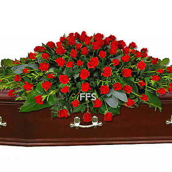 Red Roses Casket