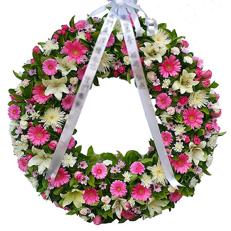 Pink Wreath for a Lady