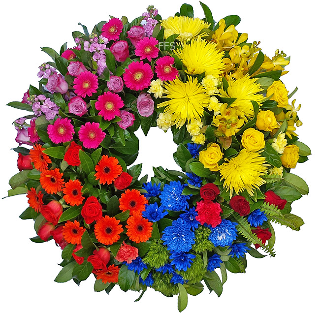 Bright Colourful Wreath