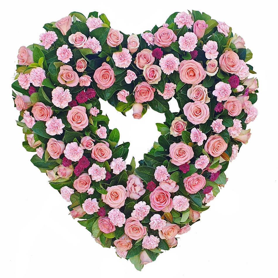 Heart Wreath in Pink Tones