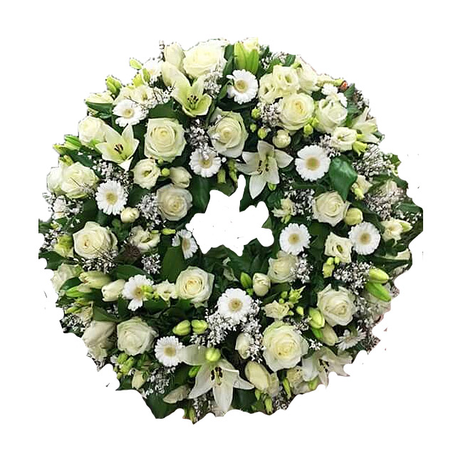 Tribute Wreath in White Tones