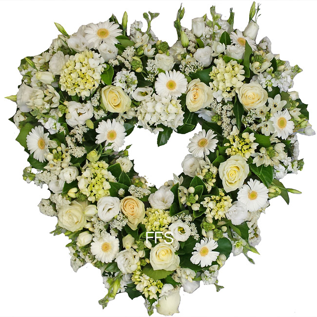 Seasonal Wreath in White
