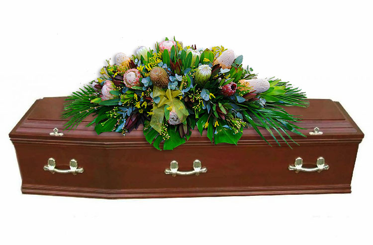 Native Flowers Casket Cover