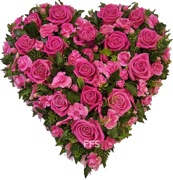 Pink Roses Heart