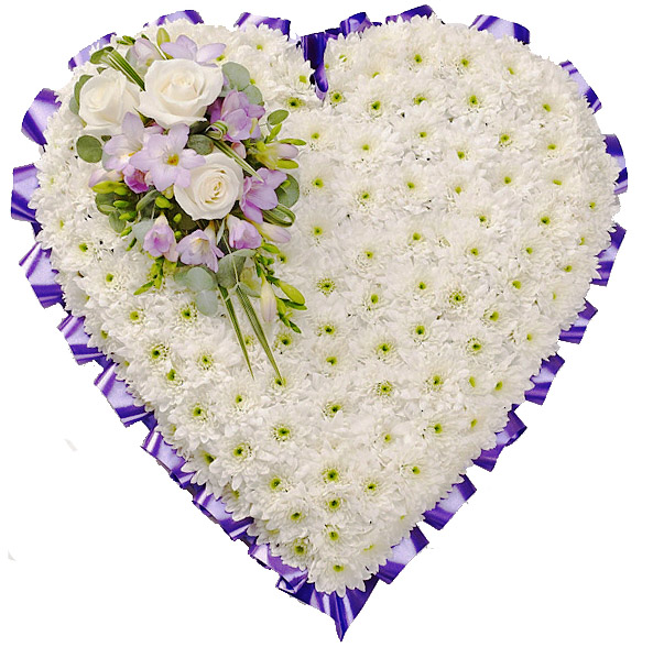Heart in Soft Purples and Lilacs