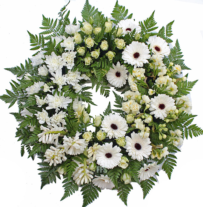 Spring Wreath in Whites