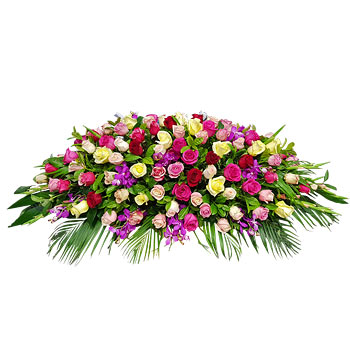 Assorted Mixed Color Casket of Flowers
